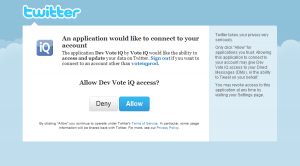 Twitter Connect Authorization