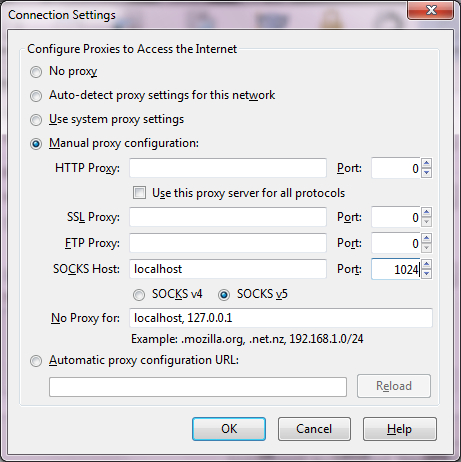Browsing The Web Through An SSH Tunnel Using Putty and Firefox