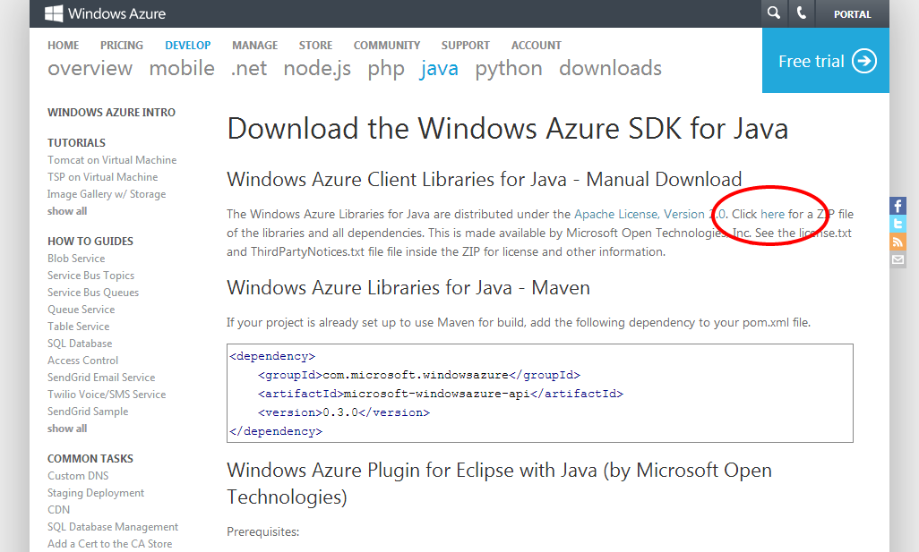Getting Started With Windows Azure Blob Storage Using Java