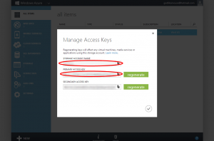 Windows Azure Keys